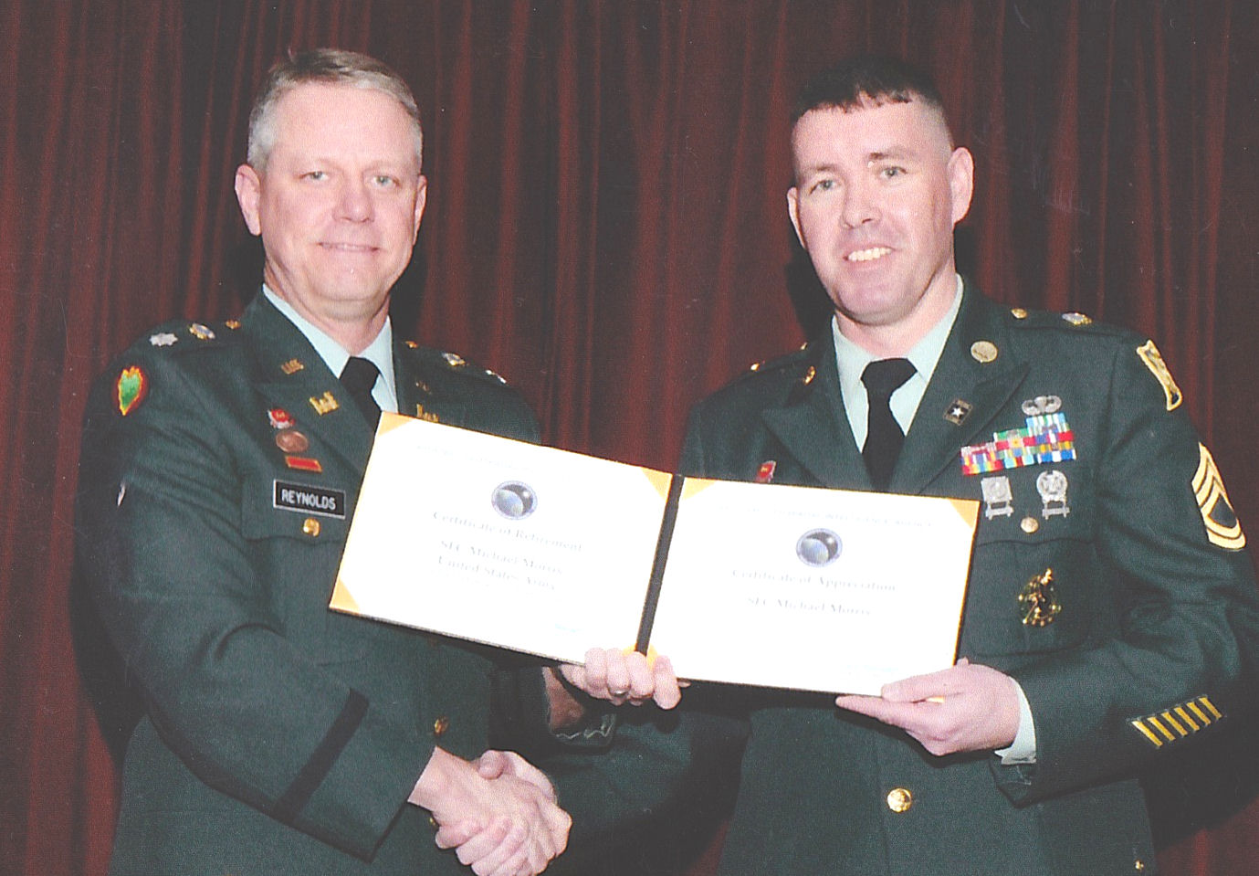 LTC Randy Reynolds and Michael Morris