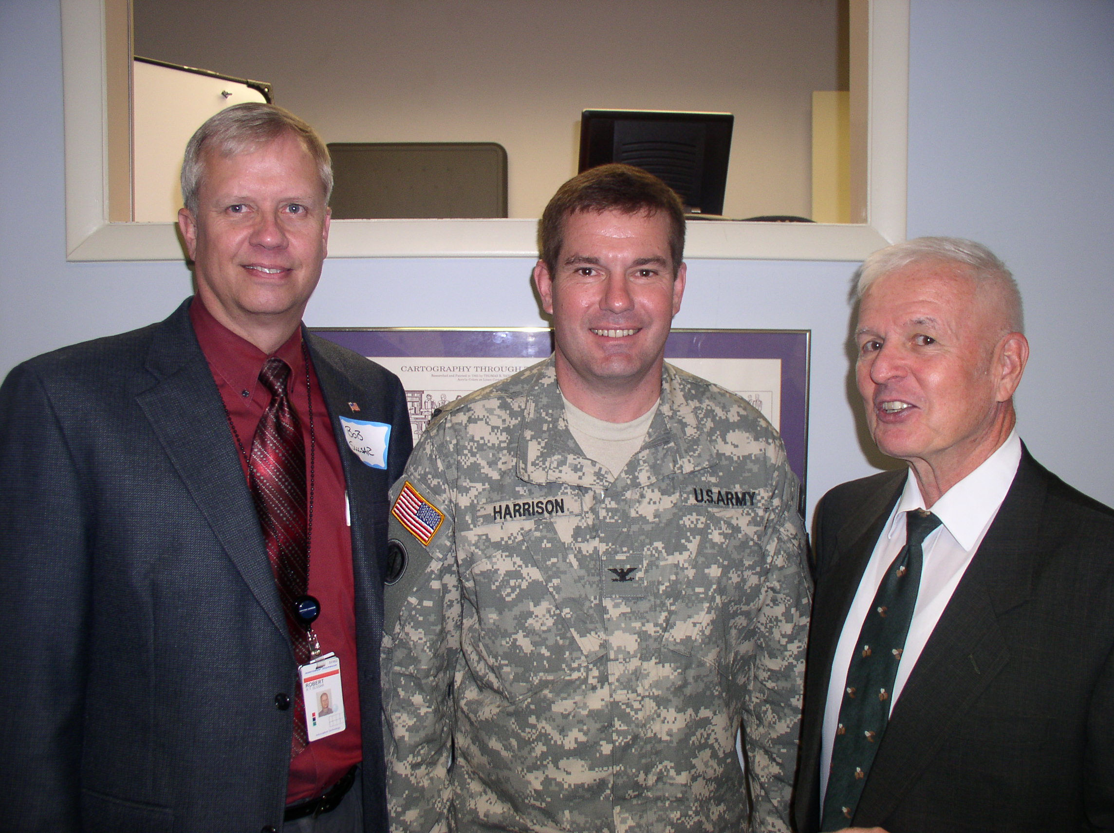 L to R - COL Bob Slusar, COL Stu Harrison and COL Dan Clark