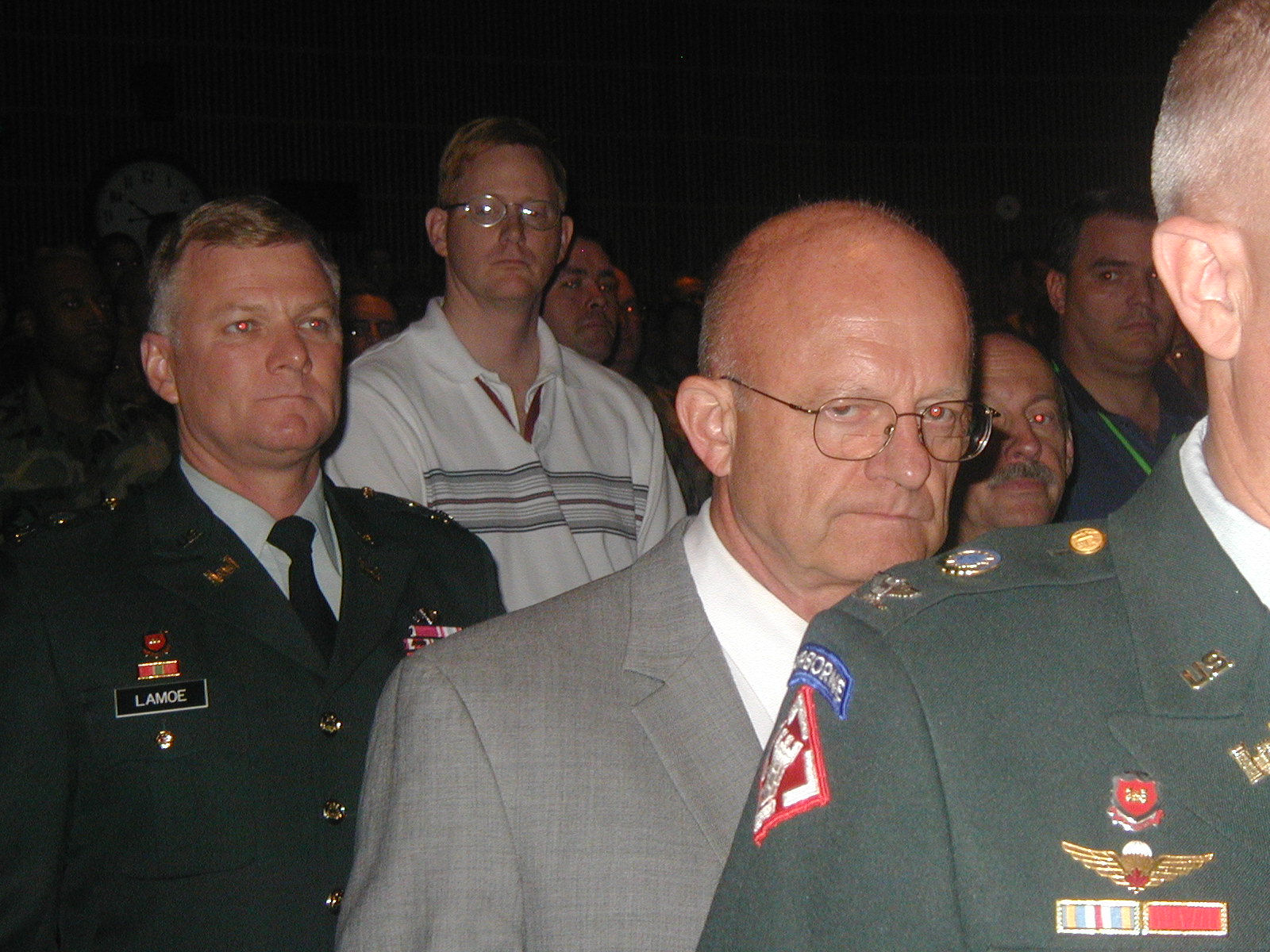 Air Force Lt Gen James R. Clapper (ret) the current Director of National Intelligence after serving circa. 2006 as the Director of the National Geospatial Intelligent Agency
