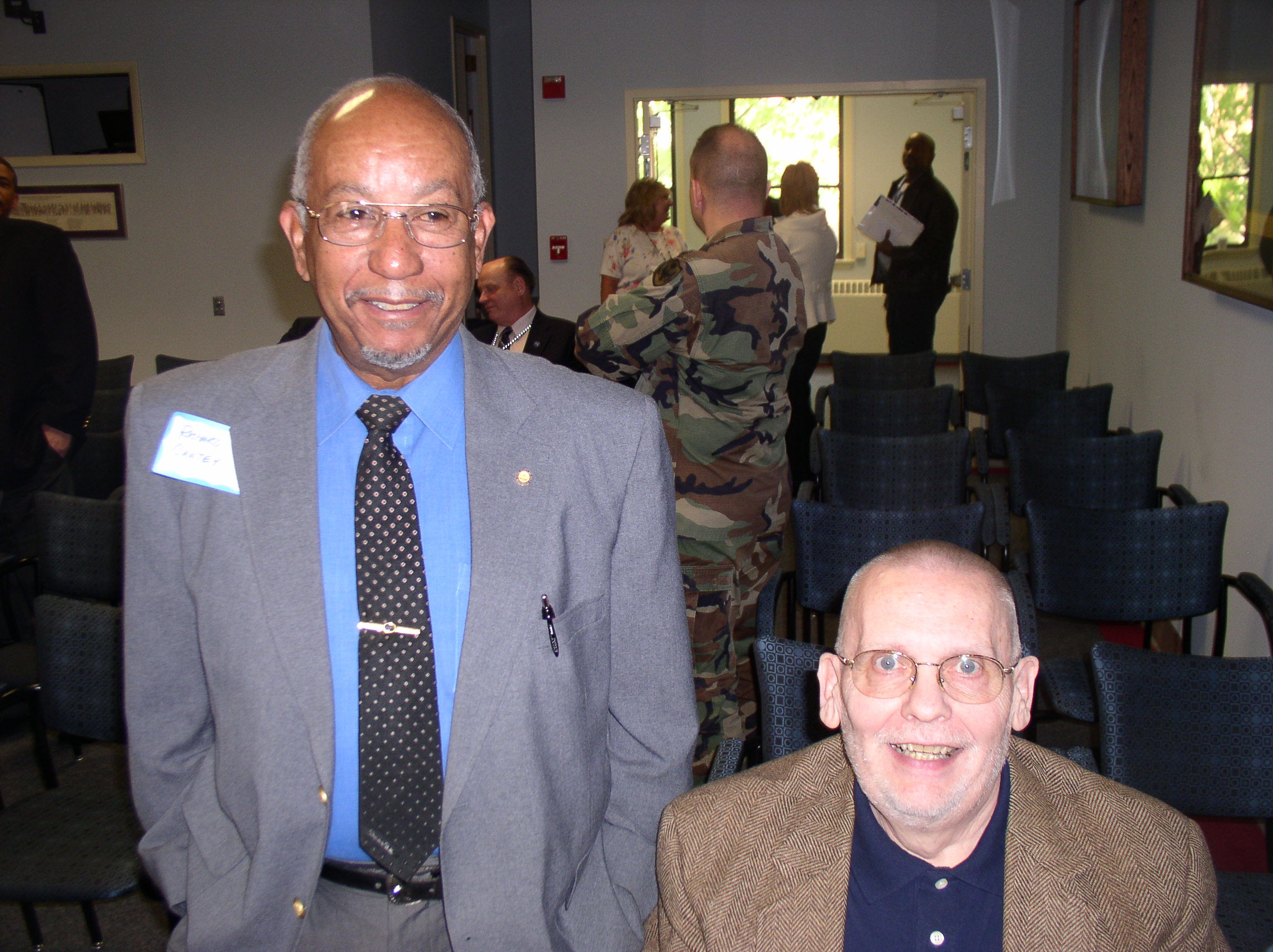 Air Force MSgt(RET) Richard Cantey and long time DMS/DMA icon Dale Andersen.