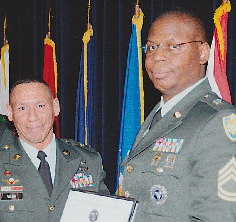 SGM Jesus Vega and SFC Webb