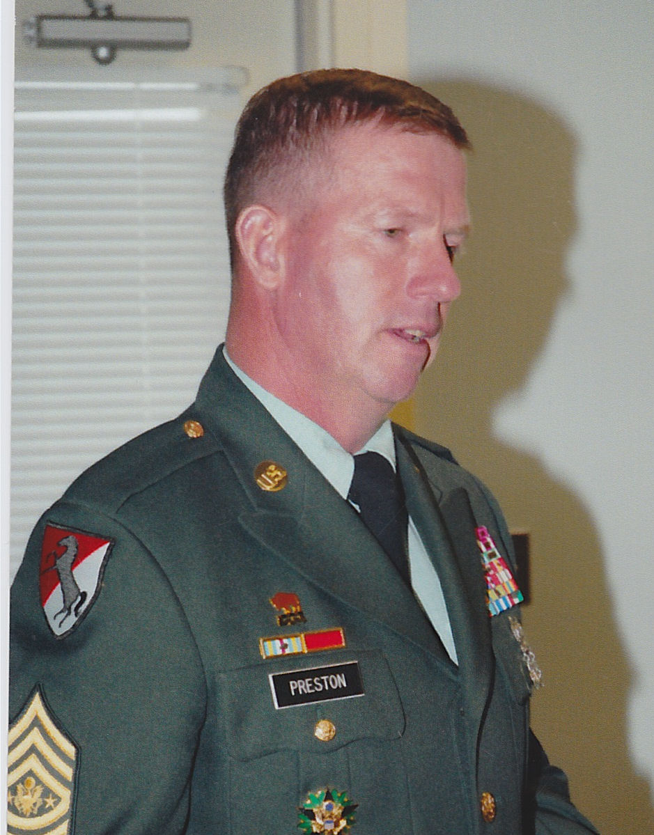 Sergeant Major of the Army Preston (circa mid 2000 - He held that rank / grade from 2004 -2011) visiting DMS