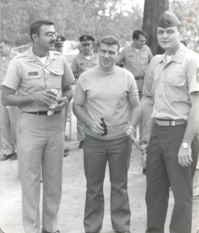 LTC (Ret) Jim Hey (RIP), MSgt (Ret) Ron Dorman and MSGySgt (Ret) Bill Sutton --circa early 1980s(?)